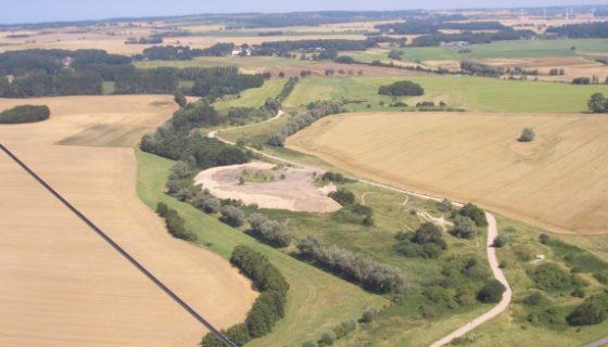 Luftbild Fallschirmspringen