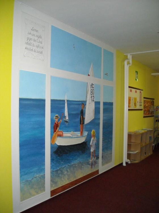 Wandmalerei in Reriker Kita